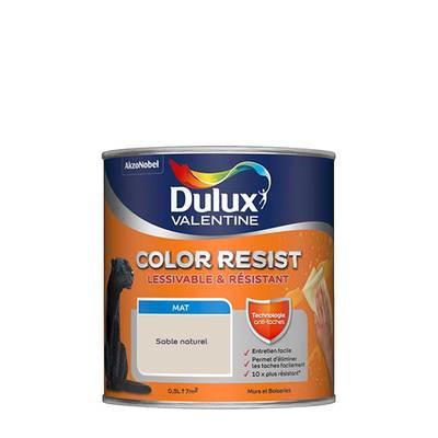 Peinture Color Resist Murs Et Boiseries Mat Sable Naturel 0 5 L Dulux 1289928 Sol Et Mur Interieur L Entrepot Du Bricolage