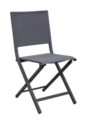 chaise pliante florence grey gris pro loisirs