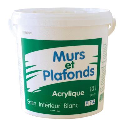 Peinture Murs Et Plafonds Acrylique Satin 10 L 494002 Sol Et Mur Interieur L Entrepot Du Bricolage