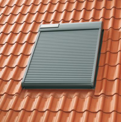 Velux Volet Roulant Solaire Ssl Pour Fenetre De Toit Sk06 114x118 Cm Aluminium Gris Anthracite Point P