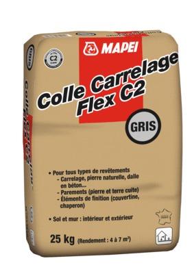 Colle Carrelage Flex C2 Neutre Gris 25 Kg Mapei 1200718 Sol Et Mur Interieur L Entrepot Du Bricolage