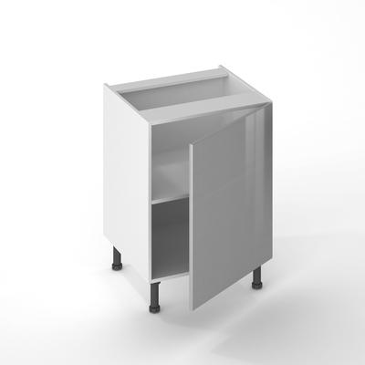 Facade De Cuisine 1 Porte Gris Aluminium 70 X 60 Cm Pour Meuble Haut Et Bas 1138568 Cuisine L Entrepot Du Bricolage